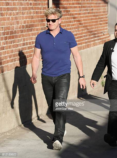 Chef Gordon Ramsay is seen on February 24 2016 Los Angeles CA
