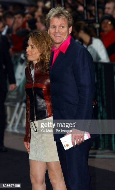 Chef Gordon Ramsay with his wife Tana arriving for the UK premiere of The Matrix Reloaded at the Odeon cinema in London's Leicester Square
