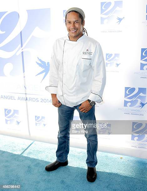 Chef Govind Armstrong arrives for Project Angel Food Celebrates 25 Years With 2014 Angel Awards at Project Angel Food on September 6 2014 in Los...