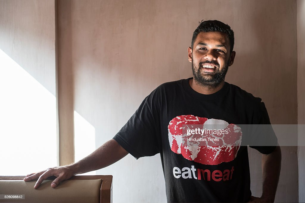 Chef Gresham Fernandes of Salt Water Cafe in Bandra on April 23, 2016 in Mumbai, India.