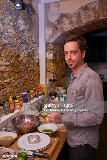 Chef Guillaume Heckmann is photographed preparing breakfast for Madame Figaro on September 15 2017 in The Family's basement kitchen in Paris France...