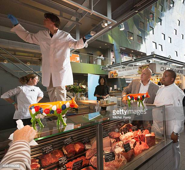 Chef Herman den Blijker attends the opening of the new Markthal on October 1 2014 in Rotterdam Netherlands The horseshoeshaped arch is the first...