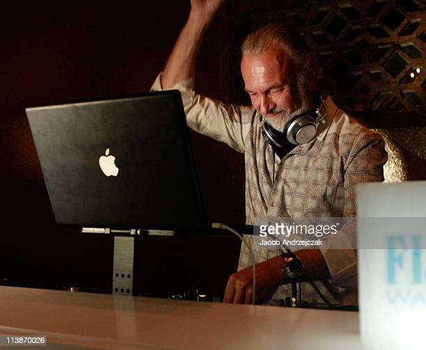 Chef Hubert Keller in the FIJI Water DJ Booth at the Late Night with Hubert at Fleur in the Mandalay Bay Resort during Bon Appetit's Second Annual...