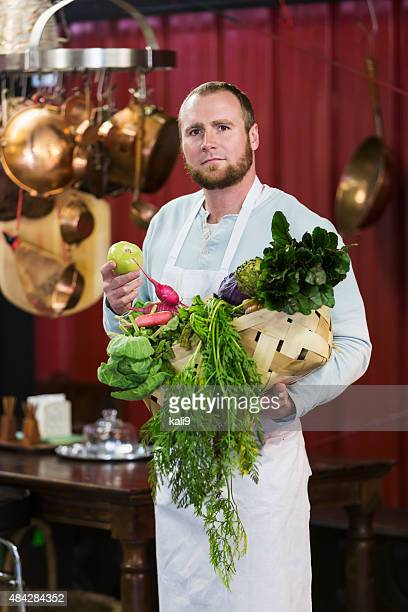 Chef in a farm to table restaurant