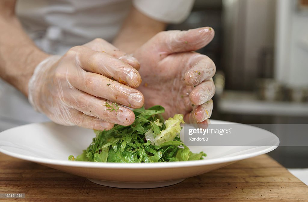 Chef is decorating an appetizer stock photo getty images for Appetizer decoration