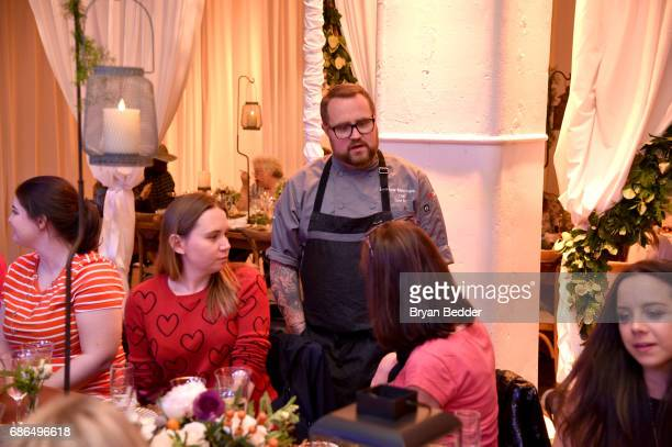 Chef Jamie Bissonnette greets guests during TNT's Will Dinner By Toro's Chef Jamie Bissonette presented by TNT'S Supper Club at West Edge on May 21...