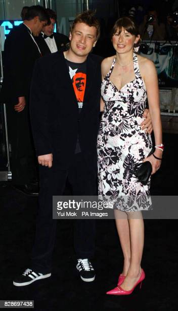 Chef Jamie Oliver and his wife Jools arriving for the UK premiere of The Matrix Reloaded at the Odeon cinema in London's Leicester Square