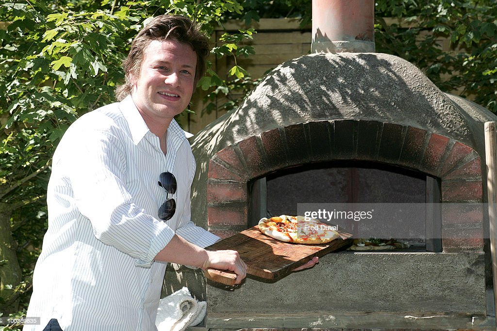 Chef Jamie Oliver attends the Press & VIP preview of The Chelsea Flower Show at Royal Hospital Chelsea on May 24, 2010 in London, England.