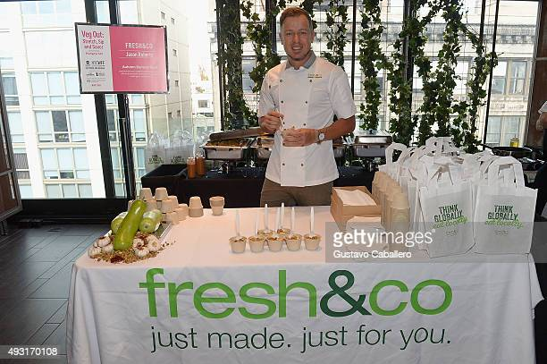 Chef Jason Roberts attends the Veg Out Stretch Sip And Savor Presented By Hungryroot Hosted By Haylie Duff during Food Network Cooking Channel New...