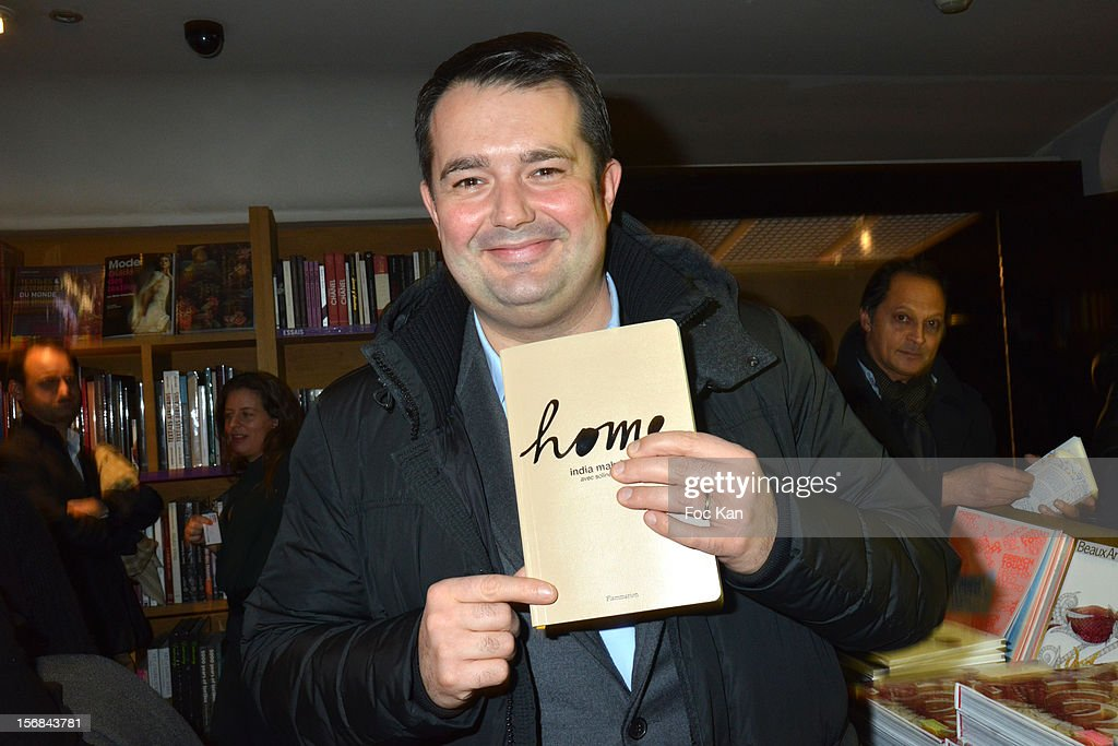 Chef Jean Francois Piege attends 'Home' India Madhavi and Soline Delos Book Launch at Musee Arts Decoratif Bookshop on November 22, 2012 in Paris, France.