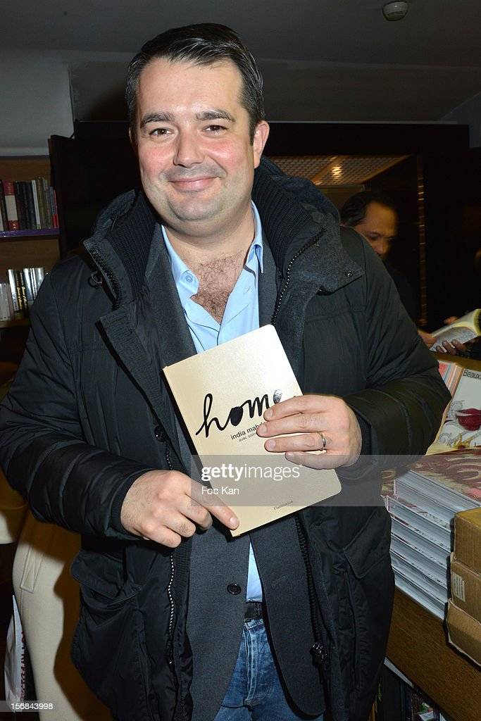 Chef Jean Francois Piege attends 'Home' India Madhavi and Soline Delos Book Launch at Musee Arts Decoratifs Bookshop on November 22, 2012 in Paris, France.