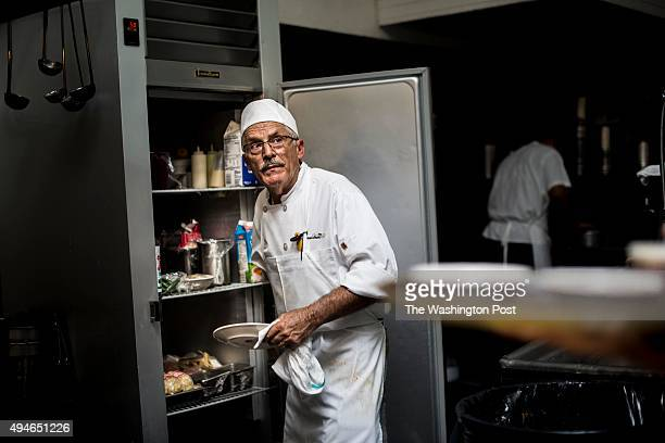 LOS Chef Jean Rue's head cook xxxx xxx prepares sauces in the kitchen of Musso and Frank Grill in Los Angeles California on Saturday October 17 2015