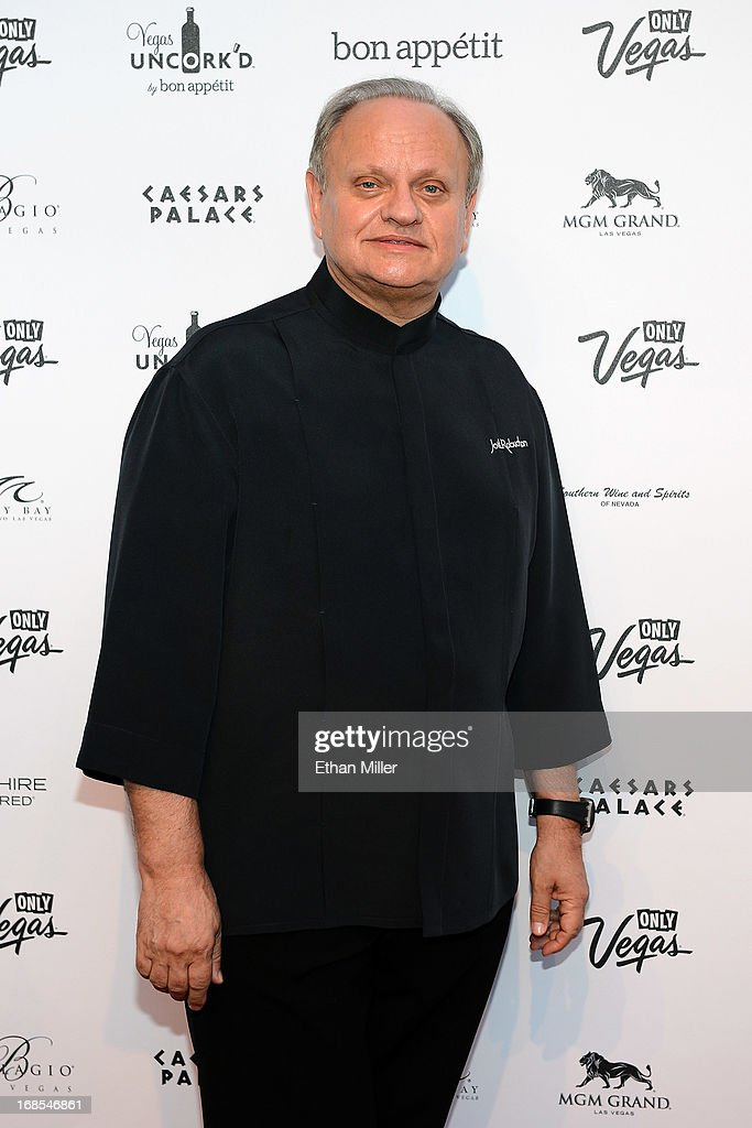 Chef Joel Robuchon arrives at Vegas Uncork'd by Bon Appetit's Grand Tasting event at Caesars Palace on May 10, 2013 in Las Vegas, Nevada.