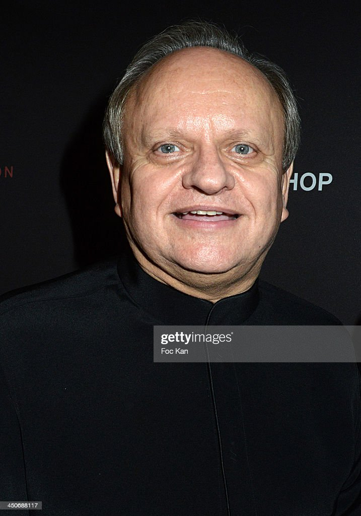 Chef Joel Robuchon attends the Sushi Shop Launches New Menu By Joel Robuchon - Photo Call At Le Mini Palais on November 19, 2013 in Paris, France.