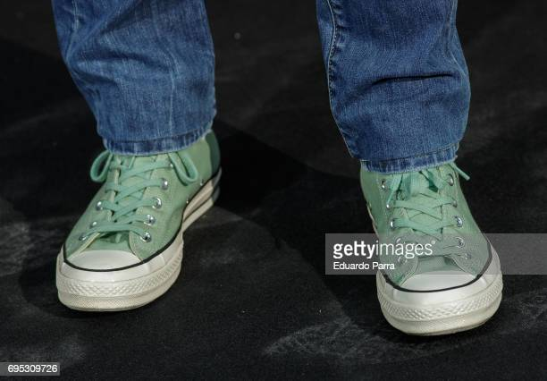 Chef Jordi Cruz shoes detail attends the 'Icon Design magazine' photocall at Lazaro Galdiano museum on June 12 2017 in Madrid Spain
