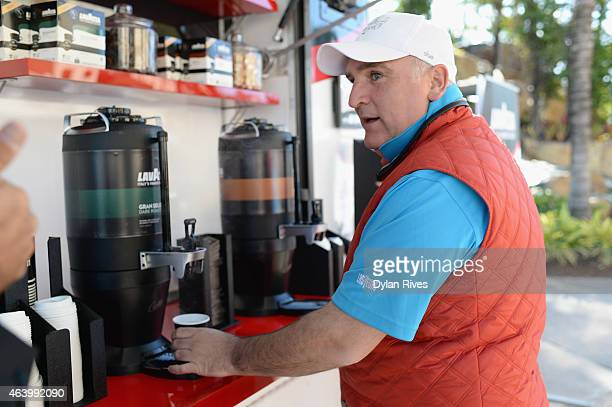 Chef José Andrés enjoys Lavazza at the Montage Hotels Resorts' 9Hole Celebrity Chef Golf Tournament hosted by Jose Andres during the 2015 Food...