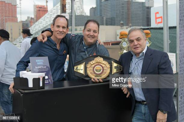 Chef Josh Capon and New York City Wine Food Festival Founder Executive Director Lee Brian Schrager attend the Food Network Cooking Channel New York...