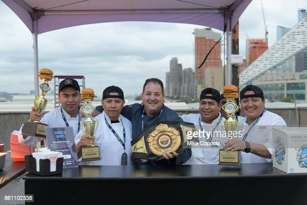 Chef Josh Capon of Burger and Barrel attends the Food Network Cooking Channel New York City Wine Food Festival Presented By CocaCola Blue Moon Burger...
