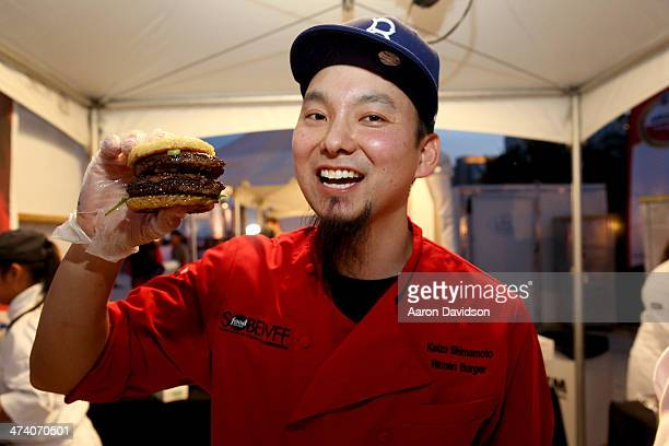 Chef Keizo Shimamoto of Ramen Burger attends Amstel Light Burger Bash presented by Pat LaFrieda Meats hosted by Rachael Ray during the Food Network...