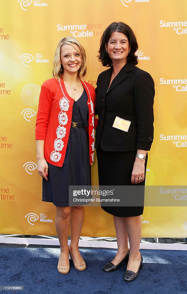Chef Kelsey Nixon and President of Time Warner Cable Media, Joan Gillman attend the Time Warner Cable Media Upfront Event 'Summertime Is Cable Time' on May 12, 2011 in Dallas, Texas.
