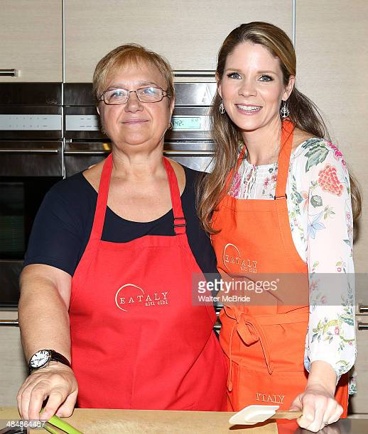 Chef Lidia Bastianich and Actress Kelli O'Hara conduct a special cooking demonstration at La Scuola at Eataly on April 14 2014 in New York City