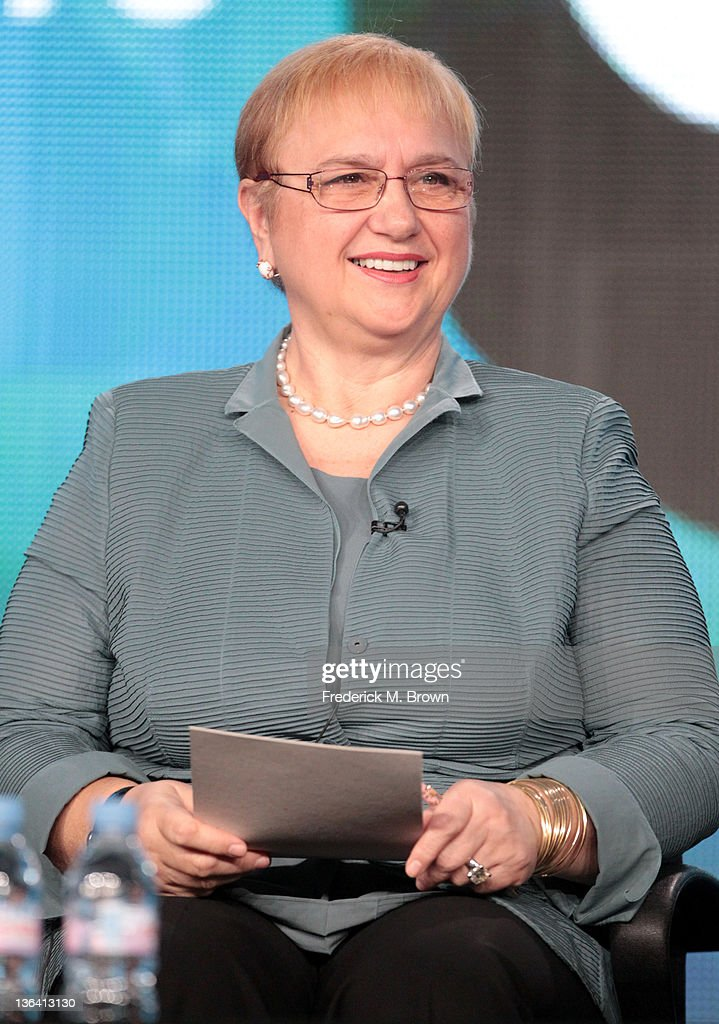 Chef Lidia Bastianich speaks during the 'Lidia Celebrates America Weddings: Something Borrowed, Something New' panel during the PBS portion of the 2012 Winter TCA Tour held at The Langham Huntington Hotel and Spa on January 4, 2012 in Pasadena, California.
