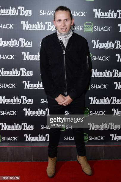 Chef Luke Thomas during the launch of 'Shack Sounds' at Shake Shack Leicester Square on October 22 2017 in London England