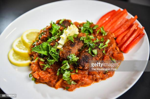 Chef Majed Abdulraheem's Kebab Hindi Syrian beef meatballs stew made with Pita Bread dish made with Yellow onions ground beef garlic tomato olive oil...
