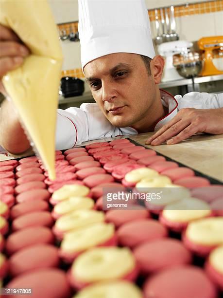 Chef Making Macaron