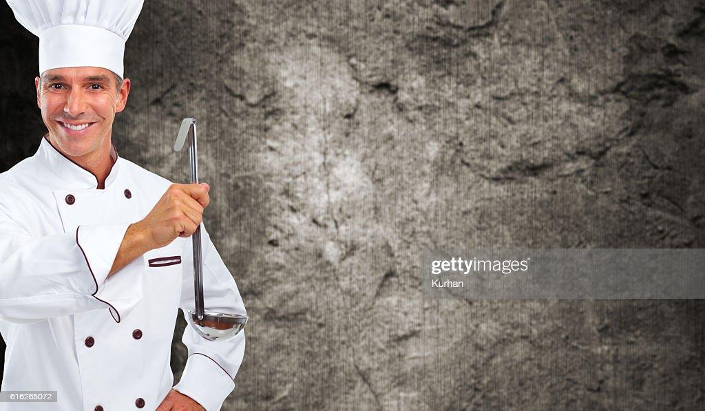 Chef man. : Stock Photo