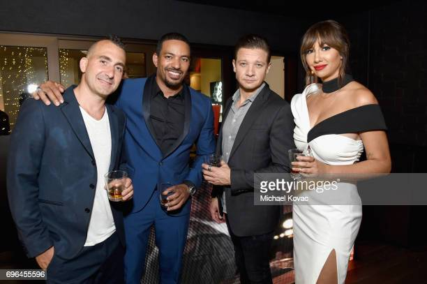 Chef Marc Forgione and actors Laz Alonso Jeremy Renner and Jackie Cruz attend Remy Martin's special evening with Jeremy Renner and Fetty Wap...