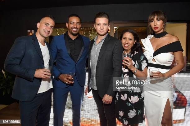 Chef Marc Forgione and actors Laz Alonso Jeremy Renner Remy Martin VP of Marketing Emma Medina and actor Jackie Cruz attend Remy Martin's special...