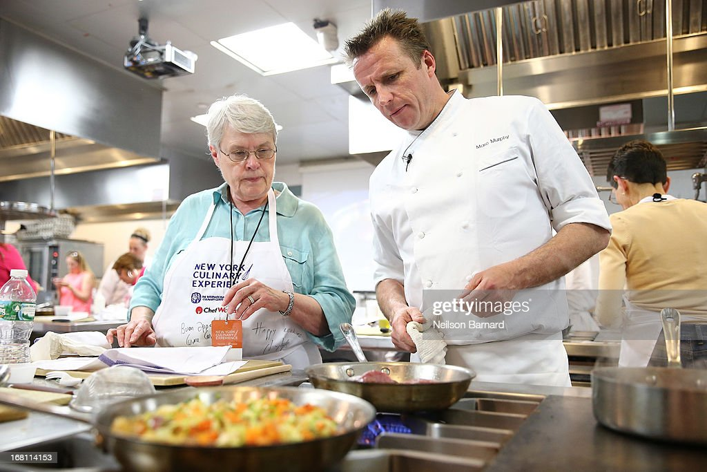 Chef <a gi-track='captionPersonalityLinkClicked' href=/galleries/search?phrase=Marc+Murphy+-+Chef&family=editorial&specificpeople=12681580 ng-click='$event.stopPropagation()'>Marc Murphy</a> (R) of Landmarc teaches 'Marc's Signature Dishes' on day 2 of the New York Culinary Experience 2013 on May 5, 2013 in New York City.