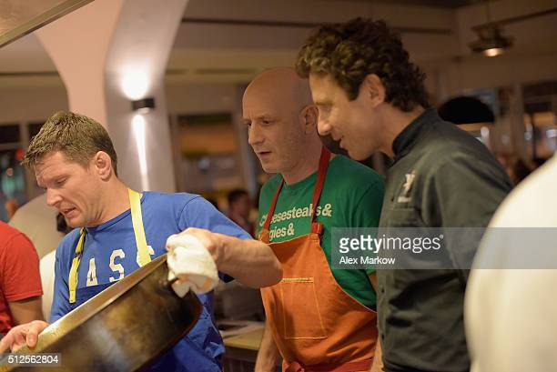 Chef Marc Vetri and Giovanni Rocchio prepare food at a Dinner Hosted By Marc Vetri And Giovanni Rocchio Part of the Taste Fort Lauderdale...