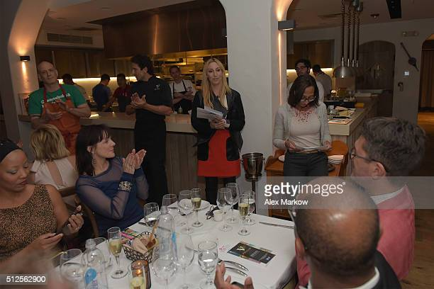 Chef Marc Vetri and Giovanni Rocchio present food at a Dinner Hosted By Marc Vetri And Giovanni Rocchio Part of the Taste Fort Lauderdale...