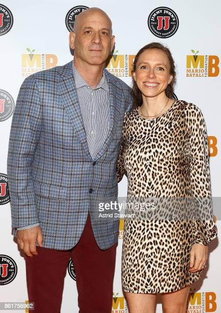 Chef Marc Vetri and Megan Vetri attend 6th Annual Mario Batali Foundation Honors dinner at Del Posto on October 15 2017 in New York City