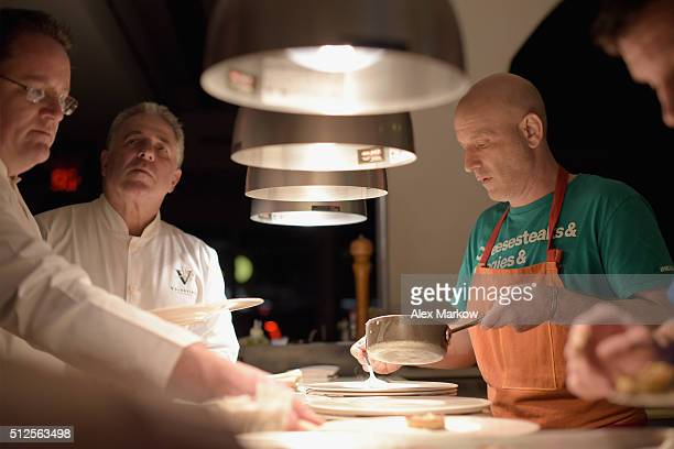 Chef Marc Vetri attends a Dinner Hosted By Marc Vetri And Giovanni Rocchio Part of the Taste Fort Lauderdale Seriesduring 2016 Food Network Cooking...