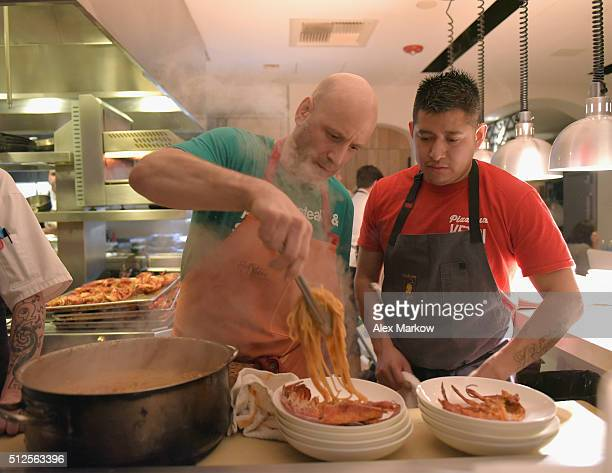 Chef Marc Vetri prepares a Dinner Hosted By Marc Vetri And Giovanni Rocchio Part of the Taste Fort Lauderdale Seriesduring 2016 Food Network Cooking...