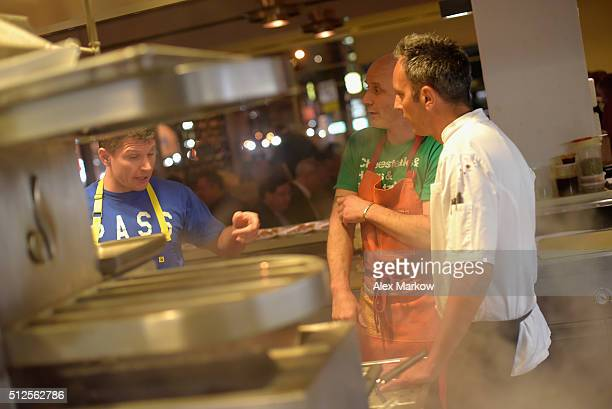 Chef Marc Vetri serving food at a Dinner Hosted By Marc Vetri And Giovanni Rocchio Part of the Taste Fort Lauderdale Seriesduring 2016 Food Network...