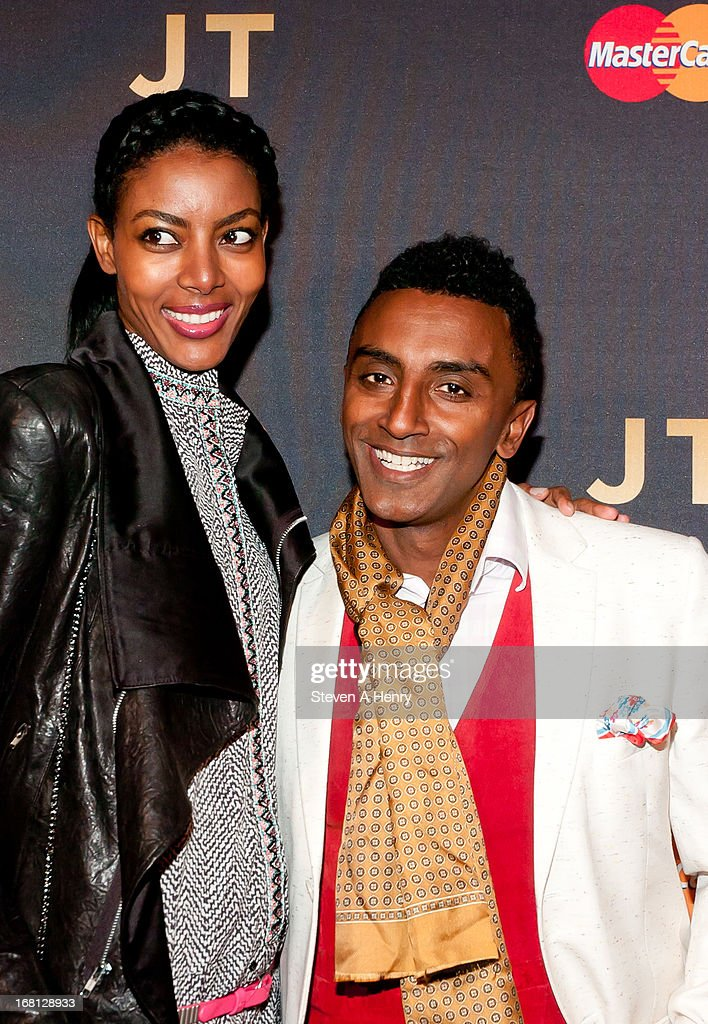 Chef <a gi-track='captionPersonalityLinkClicked' href=/galleries/search?phrase=Marcus+Samuelsson&family=editorial&specificpeople=2143367 ng-click='$event.stopPropagation()'>Marcus Samuelsson</a> and his wife Maya Haile arrive at MasterCard Priceless Premieres Presents Justin Timberlake Roseland Ballroom on May 5, 2013 in New York City.
