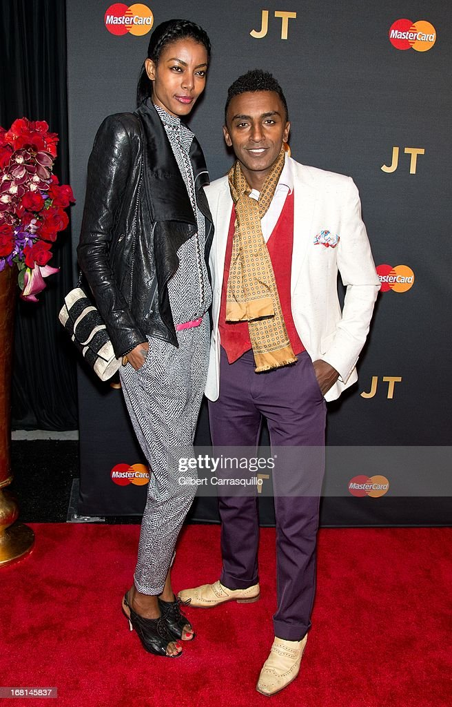 Chef <a gi-track='captionPersonalityLinkClicked' href=/galleries/search?phrase=Marcus+Samuelsson&family=editorial&specificpeople=2143367 ng-click='$event.stopPropagation()'>Marcus Samuelsson</a> (R) and wife model Maya Haile attend MasterCard Priceless premieres presents Justin Timberlake at Roseland Ballroom on May 5, 2013 in New York City.