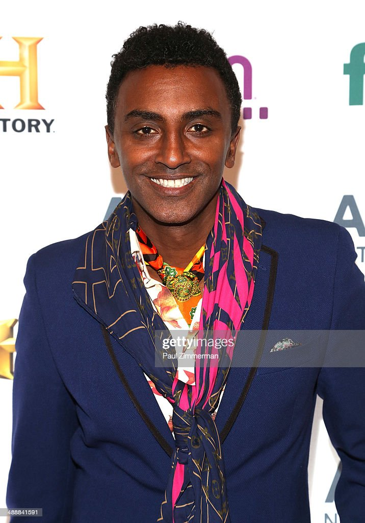 Chef <a gi-track='captionPersonalityLinkClicked' href=/galleries/search?phrase=Marcus+Samuelsson&family=editorial&specificpeople=2143367 ng-click='$event.stopPropagation()'>Marcus Samuelsson</a> attend the 2014 A+E Networks Upfront at Park Avenue Armory on May 8, 2014 in New York City.
