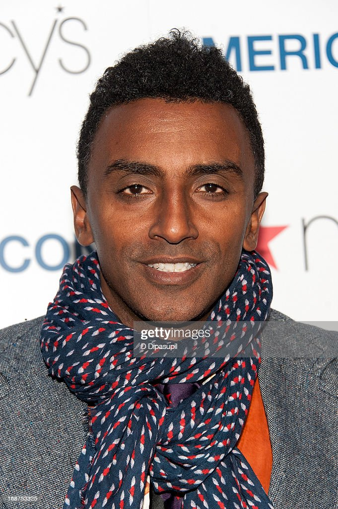Chef <a gi-track='captionPersonalityLinkClicked' href=/galleries/search?phrase=Marcus+Samuelsson&family=editorial&specificpeople=2143367 ng-click='$event.stopPropagation()'>Marcus Samuelsson</a> attends Macy's 'American Icons' Campaign Launch at Gotham Hall on May 14, 2013 in New York City.