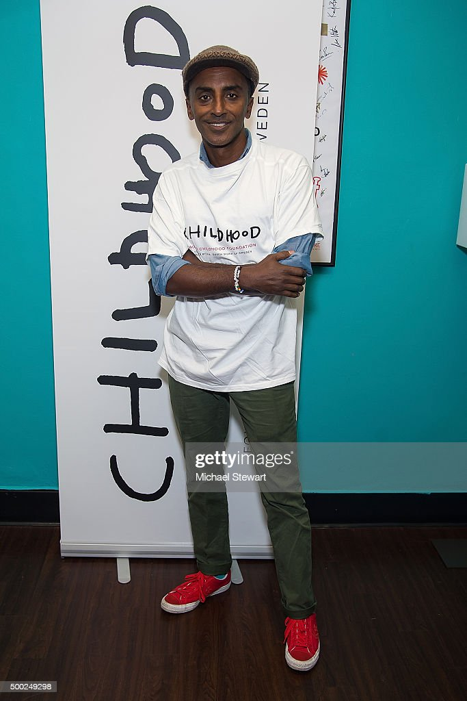 Chef Marcus Samuelsson attends the ThankYou By Childhood USA Advocacy Campaign, #EyesWideOpen Initiative at the Miller Theater in West Harlem 2015 on December 6, 2015 in New York City.