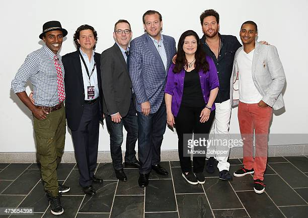 Chef Marcus Samuelsson President Founder of Karlitz and Company Herb Karlitz writer Ted Allen and chefs Michael White Alex Guarnaschelli Scott Conant...