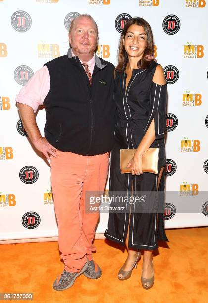 Chef Mario Batali and Mary Giuliani attend 6th Annual Mario Batali Foundation Honors dinner at Del Posto on October 15 2017 in New York City