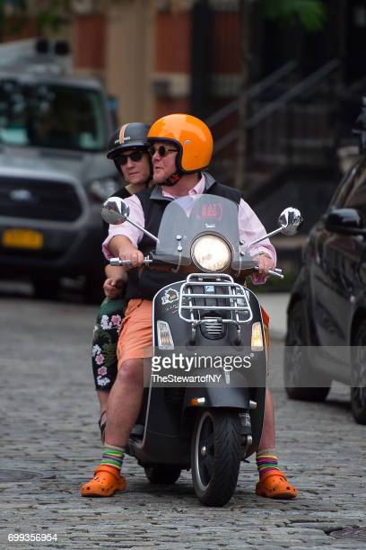 Chef Mario Batali and Susi Cahn are seen in NoHo on June 21 2017 in New York City