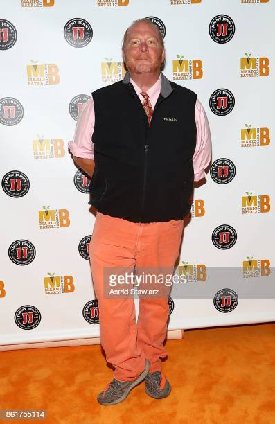 Chef Mario Batali attends 6th Annual Mario Batali Foundation Honors dinner at Del Posto on October 15 2017 in New York City