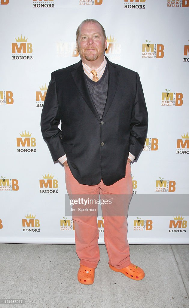 Chef <a gi-track='captionPersonalityLinkClicked' href=/galleries/search?phrase=Mario+Batali&family=editorial&specificpeople=669889 ng-click='$event.stopPropagation()'>Mario Batali</a> attends the 2012 <a gi-track='captionPersonalityLinkClicked' href=/galleries/search?phrase=Mario+Batali&family=editorial&specificpeople=669889 ng-click='$event.stopPropagation()'>Mario Batali</a> Foundation Honors Dinner at Del Posto Ristorante on September 9, 2012 in New York City.