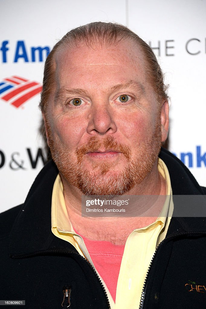 Chef Mario Batali attends the Bank of America and Food Wine with The Cinema Society screening of 'A Place at the Table' at Museum of Modern Art on...